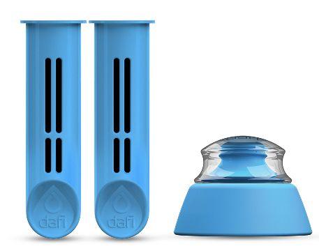 DAFI Náhradní filtr 2 ks + víčko pro filtrační láhev modrá