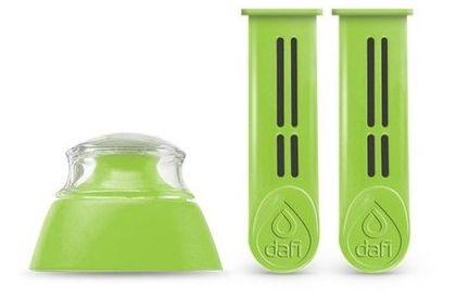 DAFI Náhradní filtr 2 ks + víčko pro filtrační láhev zelená