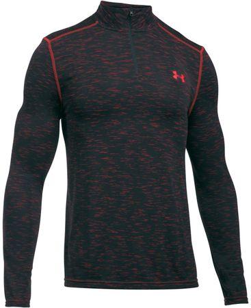 Under Armour moška športna majica z dolgimi rokavi Seamless Marathon Red, črno-rdeča, M