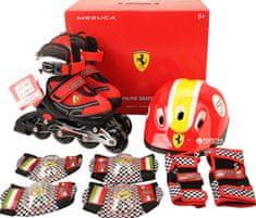 Ferrari InLine rolerji FK11-1 34-37 s ščitniki, rdeči