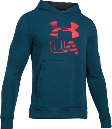 Under Armour Threadborne Graphic Hoodie True Ink Marathon Red XXL
