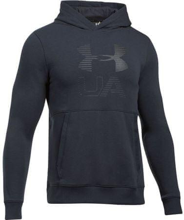 Under Armour Threadborne Graphic Hoodie Black Stealth Gray Black XL