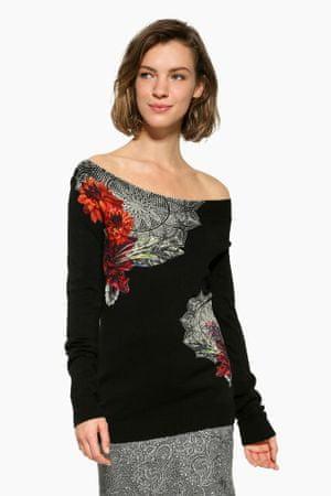 Desigual ženski pulover Aneta XL črna