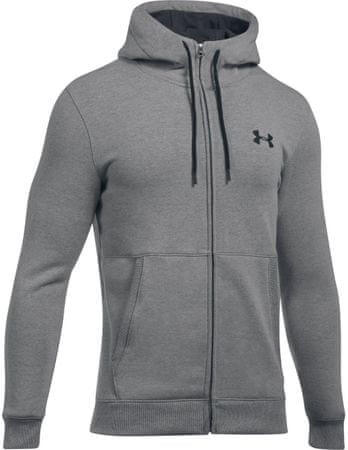 Under Armour moška jopa s kapuco Threadborne Full Zip Hoodie, siva, XXL