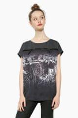 Desigual T-shirt damski Leopard Degrade