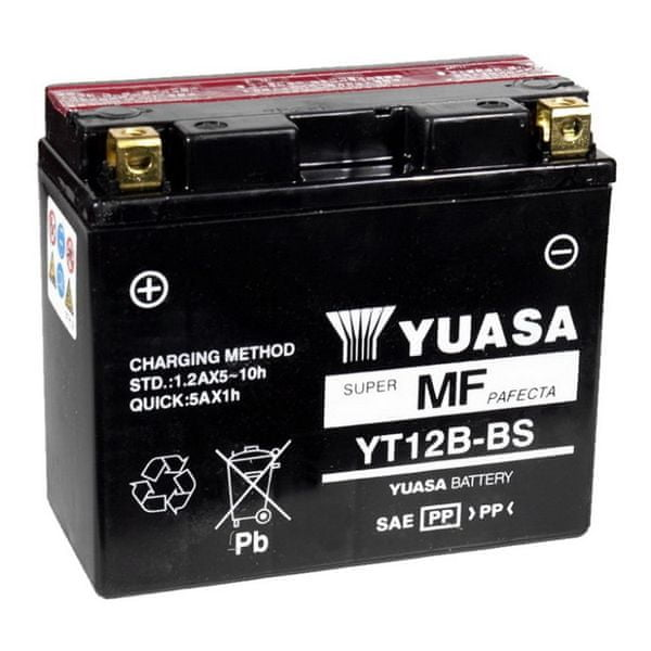 Yuasa baterie 12V 10Ah YT12B-BS (dodáváno s kyselinovou náplní)