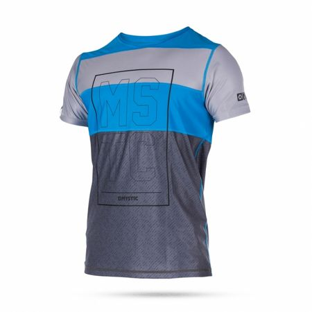 Mystic kopalna majica Quickdry Drip SS-400, modra, XL