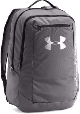 Under Armour Hustle Backpack LDWR Graphite Graphite Black Osfa