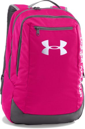 Under Armour Hustle Backpack LDWR Tropic Pink Graphite White Osfa