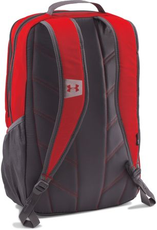 Under Armour Hustle Backpack LDWR Red Graphite Silver Osfa  f3264b5ce43