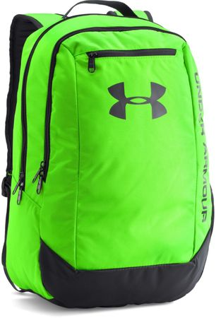 Under Armour Hustle Backpack LDWR Hyper Green Stealth Gray Stealth Gray Osfa