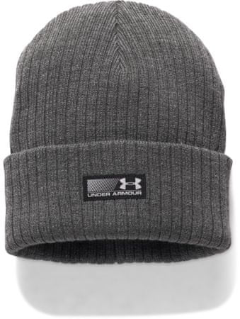 Under Armour Men'S Truck Stop Beanie Carbon Heather Black Steel Osfa