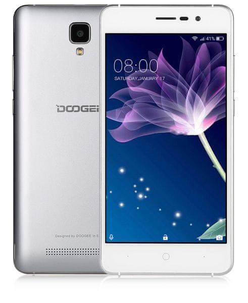 Doogee X10, stříbrný