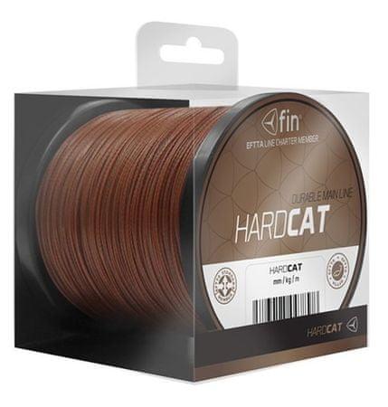 FIN Splétaná šňůra Hard Cat 0,80mm 78,2kg Červenohnědá 1000 m