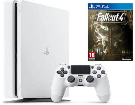 Sony Playstation 4 Slim, 500 GB, bel + Fallout 4