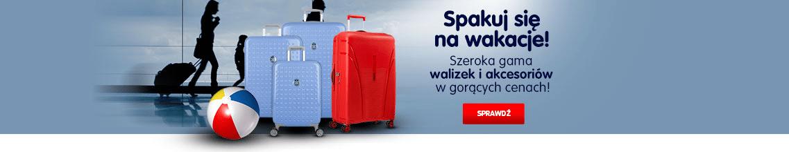 Szeroka gama walizek i akcesoriów w gorących cenach!