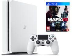Sony Playstation 4 Slim, 500 GB, bel + Mafia 3