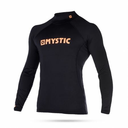 Mystic kopalna majica Lycra Star LS-945 Black-Orange, črna, S