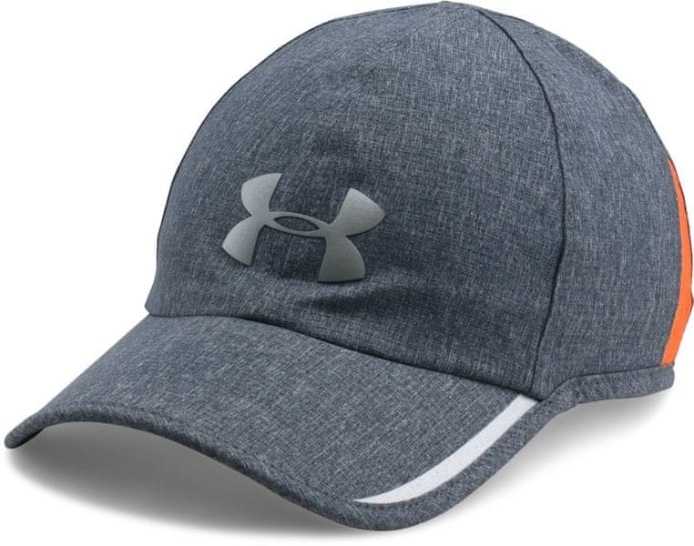 Under Armour Men'S Shadow Av Cap Stealth Gray Medium Heather Magma Orange Silver Osfa