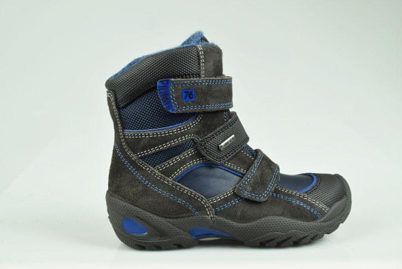 Primigi chlapecká zimní obuv 28 černá/modrá