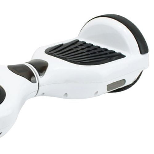 Kolonožka deskorolka elektryczna Standard z aplikacją mobilną i głośnikiem BT, biała