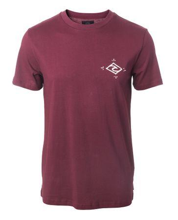 Rip Curl pánské tričko Stoke Merchants S vínová