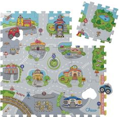 Chicco Pěnové puzzle Město 30x30cm 9ks