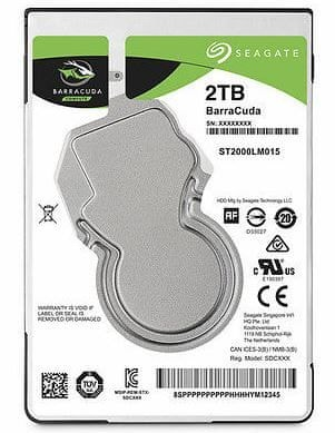 Seagate trdi disk Barracuda Guardian 2.5, 2 TB, SATA 3, 6Gb/s, 128MB