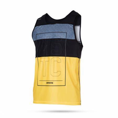 Mystic kopalna majica Quickdry Drip Tanktop 425 Pewter, sivo-rumena, XL