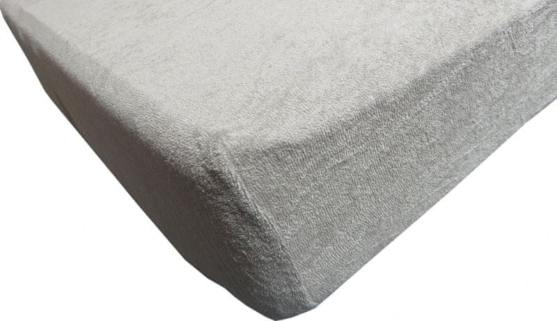Jerry Fabrics prostěradlo froté 90x200 šedá