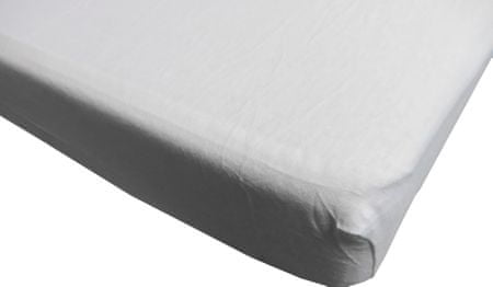 Jerry Fabrics prostěradlo 160x200 cm bílá