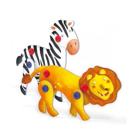 Quercetti Tecno Puzzle 3D oroszlán és a zebra