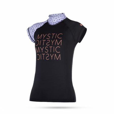 Mystic ženska kopalna majica Lycra Dutchess SS - 380 Purple, črno-vijolična, M