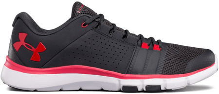 Under Armour Strive 7 Anthracite White Red 45
