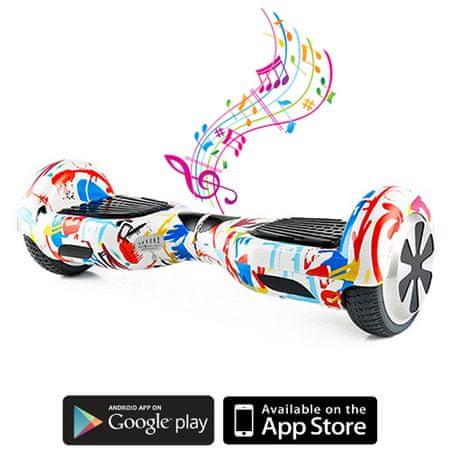Kolonožka deskorolka elektryczna Standard z aplikacją mobilną i głośnikiem BT, Crazy