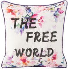My Best Home poduszka Rainbow The Free World, 45x45 cm