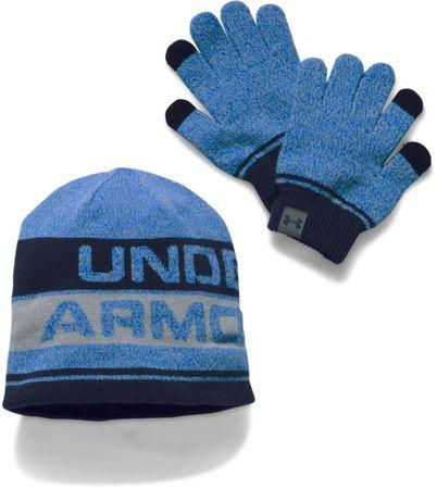 Under Armour set rokavic in kape, univerzalna velikost, moder