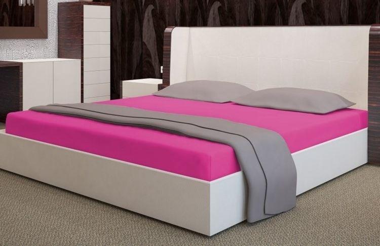 My Best Home Froté napínací prostěradlo na matraci 160x200 cm růžová