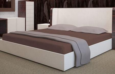 My Best Home Froté napínací prostěradlo na matraci 180x200 cm čokoládová