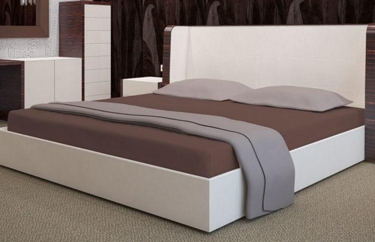 My Best Home Froté napínací prostěradlo na matraci 200x220 cm čokoládová