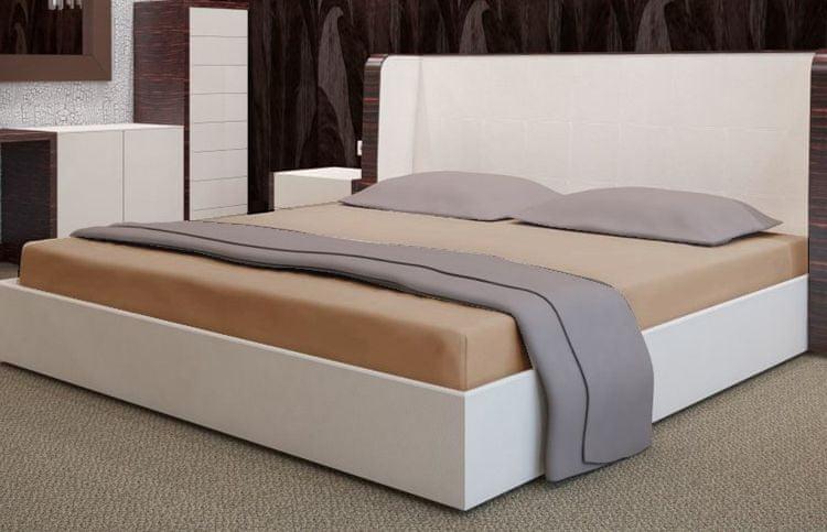 My Best Home Froté napínací prostěradlo na matraci 200x220 cm capuccino