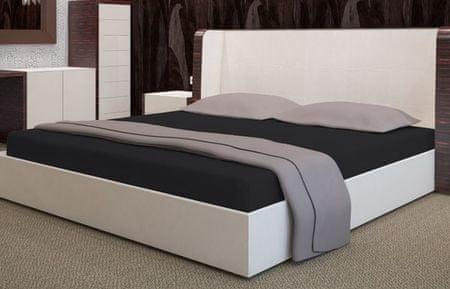 My Best Home Froté napínací prostěradlo na matraci 180x200 cm černá