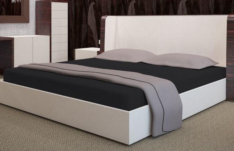 My Best Home Froté napínací prostěradlo na matraci 200x220 cm černá