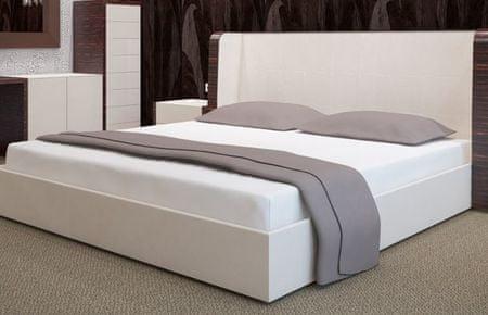 My Best Home Froté napínacia plachta na matrac 180x200 cm biela