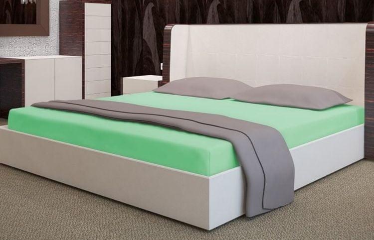 My Best Home Froté napínací prostěradlo na matraci 160x200 cm zelená