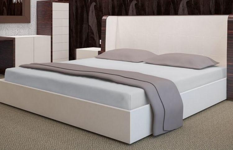 My Best Home Froté napínací prostěradlo na matraci 200x220 cm šedá