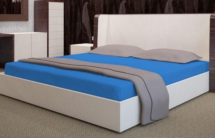 My Best Home Froté napínací prostěradlo na matraci 200x220 cm modrá