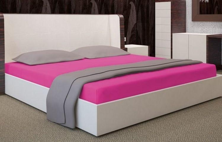 My Best Home Jersey napínací prostěradlo na matraci 140x200 cm růžová