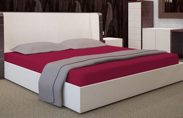 My Best Home Jersey napínací prostěradlo na matraci 200x220 cm bordó