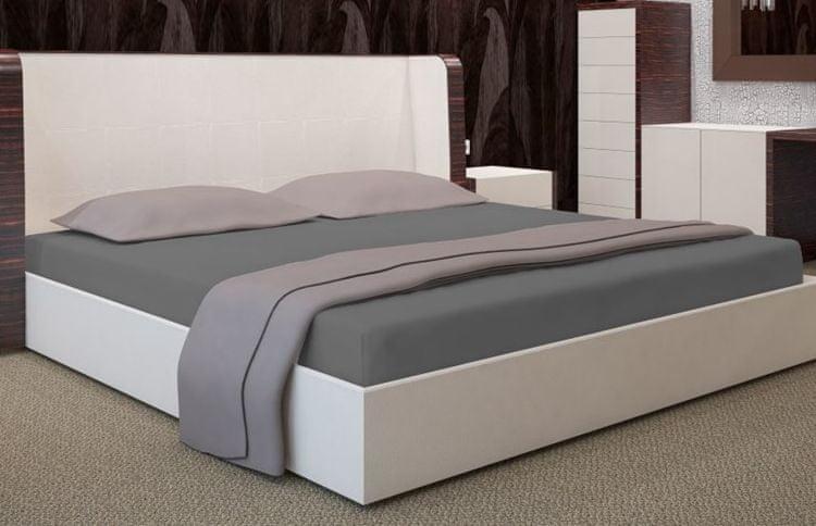 My Best Home Jersey napínací prostěradlo na matraci 200x220 cm tmavě šedá